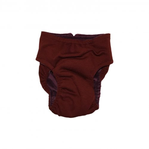 burgundy diaper – back