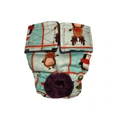 Christmas Santa and Friends Washable Cat Diaper