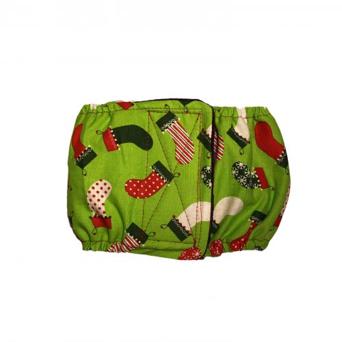 christmas-stocking-on-green-belly-band