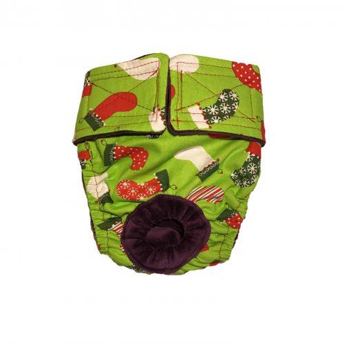 christmas-stocking-on-green-diaper