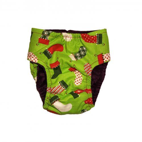 christmas-stocking-on-green-diaper-back