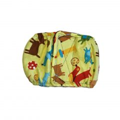 Fetching Dogs on Yellow Washable Dog Belly Band Male Wrap