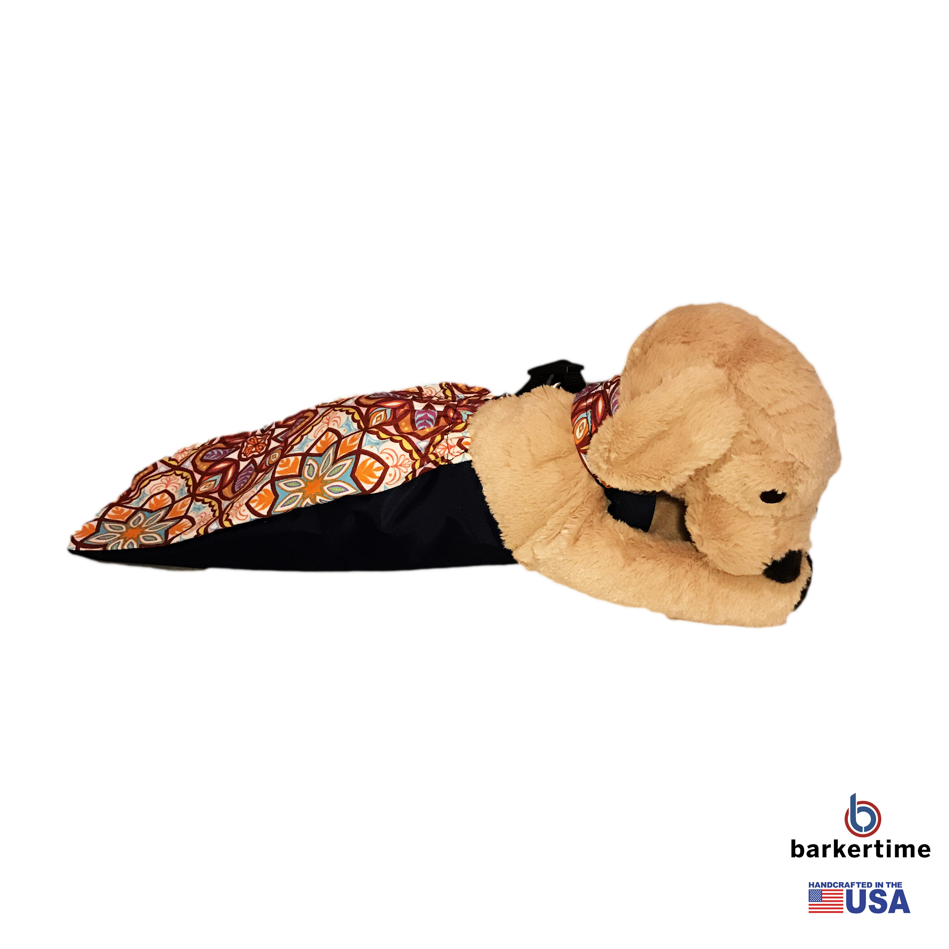 Barkertime Floral Kaleidoscope Dog Drag Bag Made In Usa