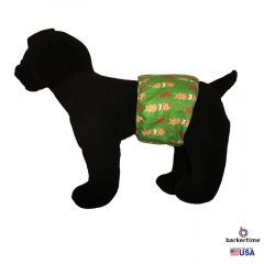Christmas Gingerbread on Green Washable Dog Belly Band Male Wrap
