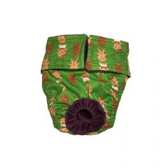 Christmas Gingerbread on Green Washable Dog Diaper