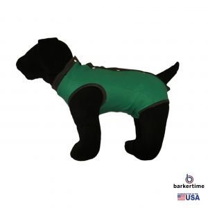 Green PeeJama E-Collar Alternative Recovery Suit