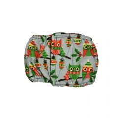 Holiday Owl with Glitter Washable Dog Belly Band Male Wrap