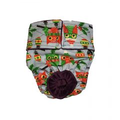 Holiday Owl with Glitter Washable Dog Diaper