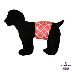 Pink Quatrefoil Washable Dog Belly Band Male Wrap