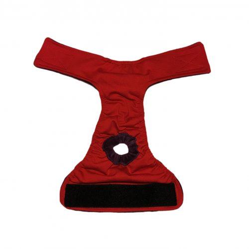 red diaper - open