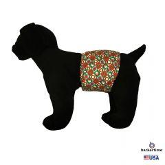 Santa Claus Christmas Argyle Washable Dog Belly Band Male Wrap