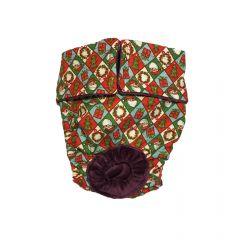 Santa Claus Christmas Argyle Washable Dog Diaper