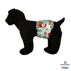 Santa Claus Reindeer Christmas Tree Washable Dog Belly Band Male Wrap