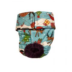 Santa Claus Reindeer Christmas Tree Washable Dog Diaper