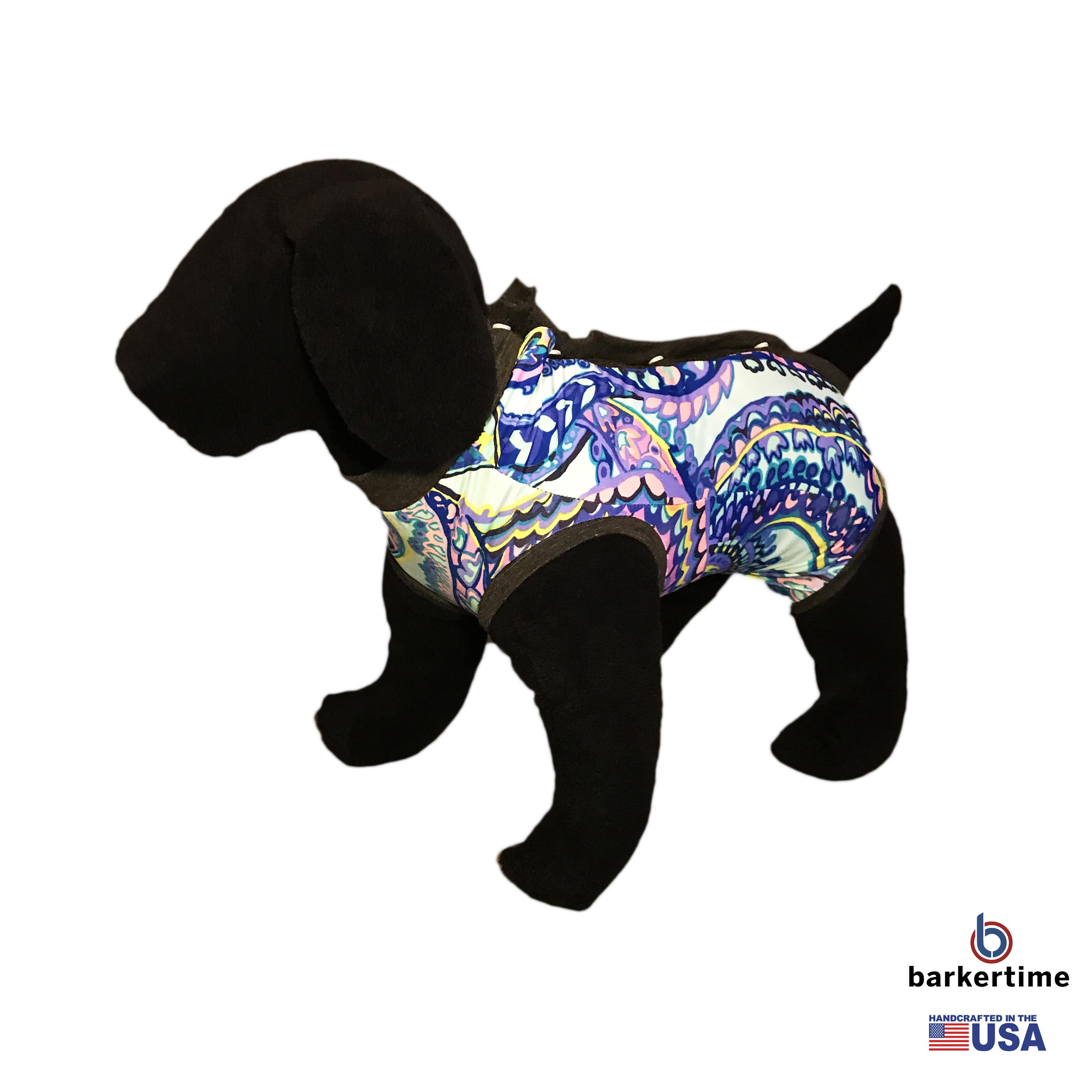 Wavy Flower Peejama E Collar Alternative Recovery Suit For