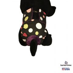 Colorful Polka Dot on Black Washable Cat Diaper