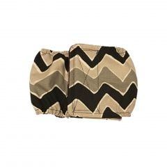 Black and Gray Chevron Washable Dog Belly Band Male Wrap