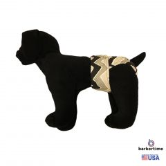 Black and Gray Chevron Washable Dog Diaper