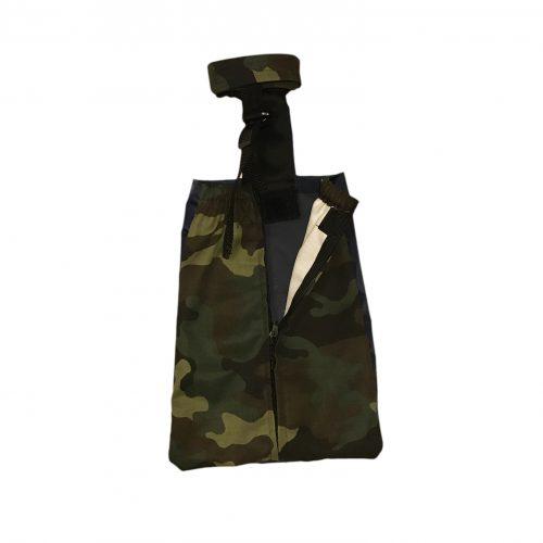 camo drag bag - open