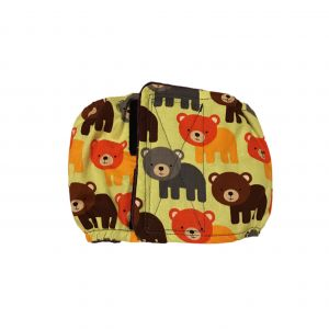 Happy Bear on Green Washable Dog Belly Band Male Wrap