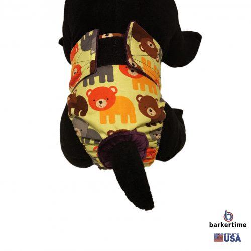 happy bear on green diaper - model 2