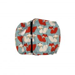 Red and White Fox Washable Dog Belly Band Male Wrap