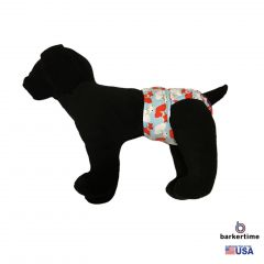 Red and White Fox Washable Dog Diaper