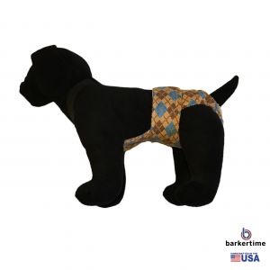 Argyle Escape-Proof Washable Dog Diaper Overall