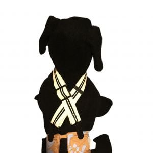 Black Stripes on White Adjustable Suspender to Keep Dog Diapers On