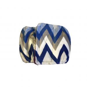 Blue Chevron Minky Washable Dog Belly Band Male Wrap