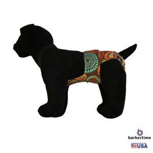 Fireworks on Brown Escape-Proof Washable Dog Diaper Overall