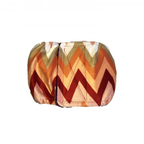 orange and red chevron minky belly band