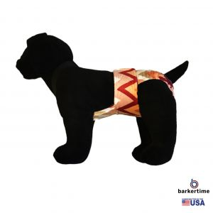 Orange and Red Minky Escape-Proof Washable Dog Diaper Overall