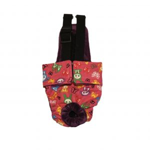 Skeleton Figures on Pink Escape-Proof Washable Dog Diaper Overall