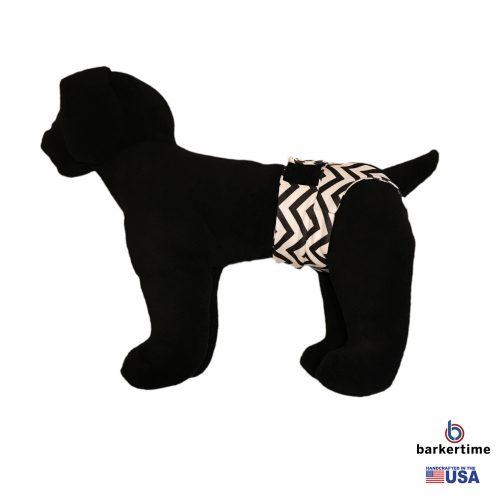 black chevron on white diaper pullup – model 1