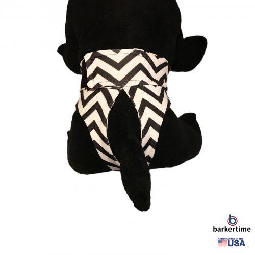 black chevron on white diaper pullup – model 2