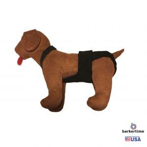 Black Escape-Proof Washable Dog Diaper Overall