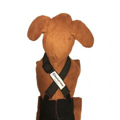 Black Adjustable Suspender to Keep Dog Diapers On