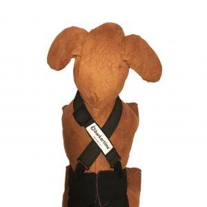 Black Adjustable Suspender to Keep Dog Diapers On