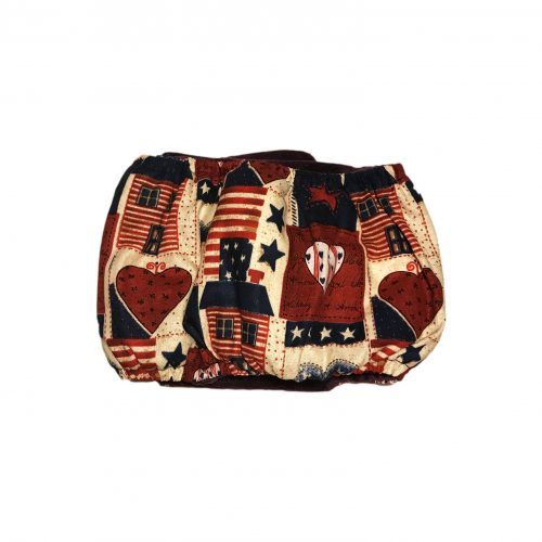 hearts and patriotic love belly band – back