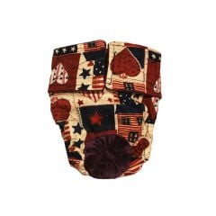 Hearts and Patriotic Love Washable Dog Diaper
