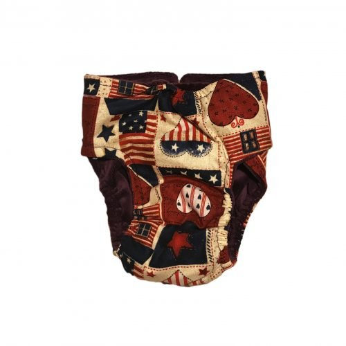 hearts and patriotic love diaper - back