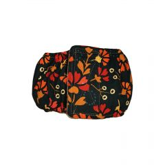 Red Flowers on Green Washable Dog Belly Band Male Wrap