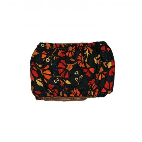 red flowers on green belly band – back