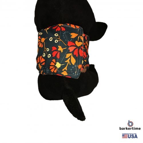 red flowers on green belly band – model 2