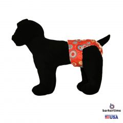Starblast on Red Washable Dog Diaper
