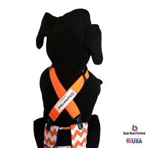 Neon Orange Adjustable Suspender to Keep Dog Diapers On