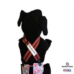 Rustic Red Adjustable Suspender to Keep Dog Diapers On