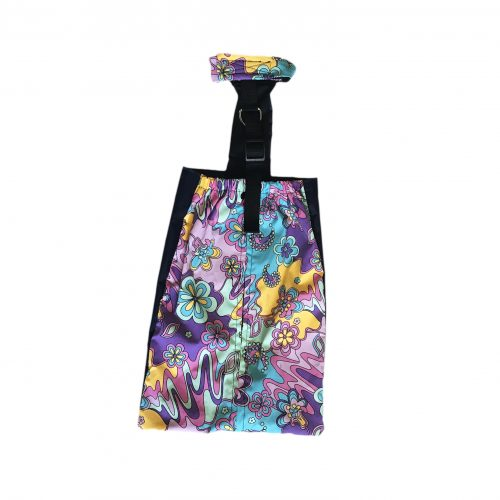 mystic flower on purple drag bag