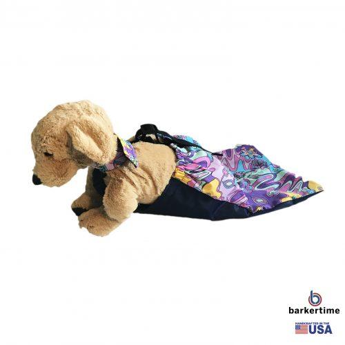 mystic flower on purple drag bag - model 1